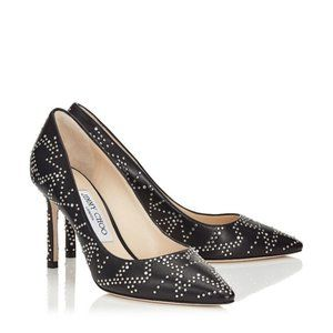 Jimmy Choo Romy 85 Nappa Leather Anthracite Pump